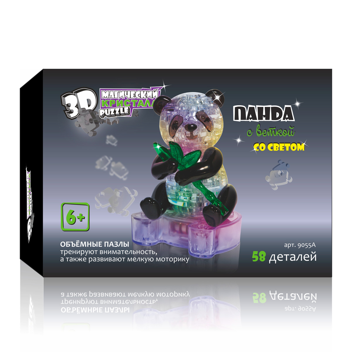 3D Puzzle Магический Кристалл 3D Пазл Панда