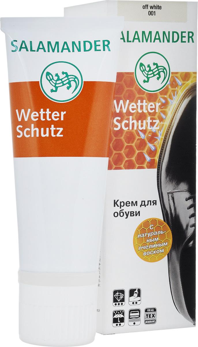 Крем Salamander WetterSchutz, для гладкой кожи, 75 мл0 113 001Высококачественный крем WetterSchutz для ухода за гладкой кожей обуви. Средство обновляет цвет, интенсивно питает, защищает, сохраняет кожу мягкой и эластичной, придает блеск, а также обладает водоотталкивающим действием.Товар сертифицирован.