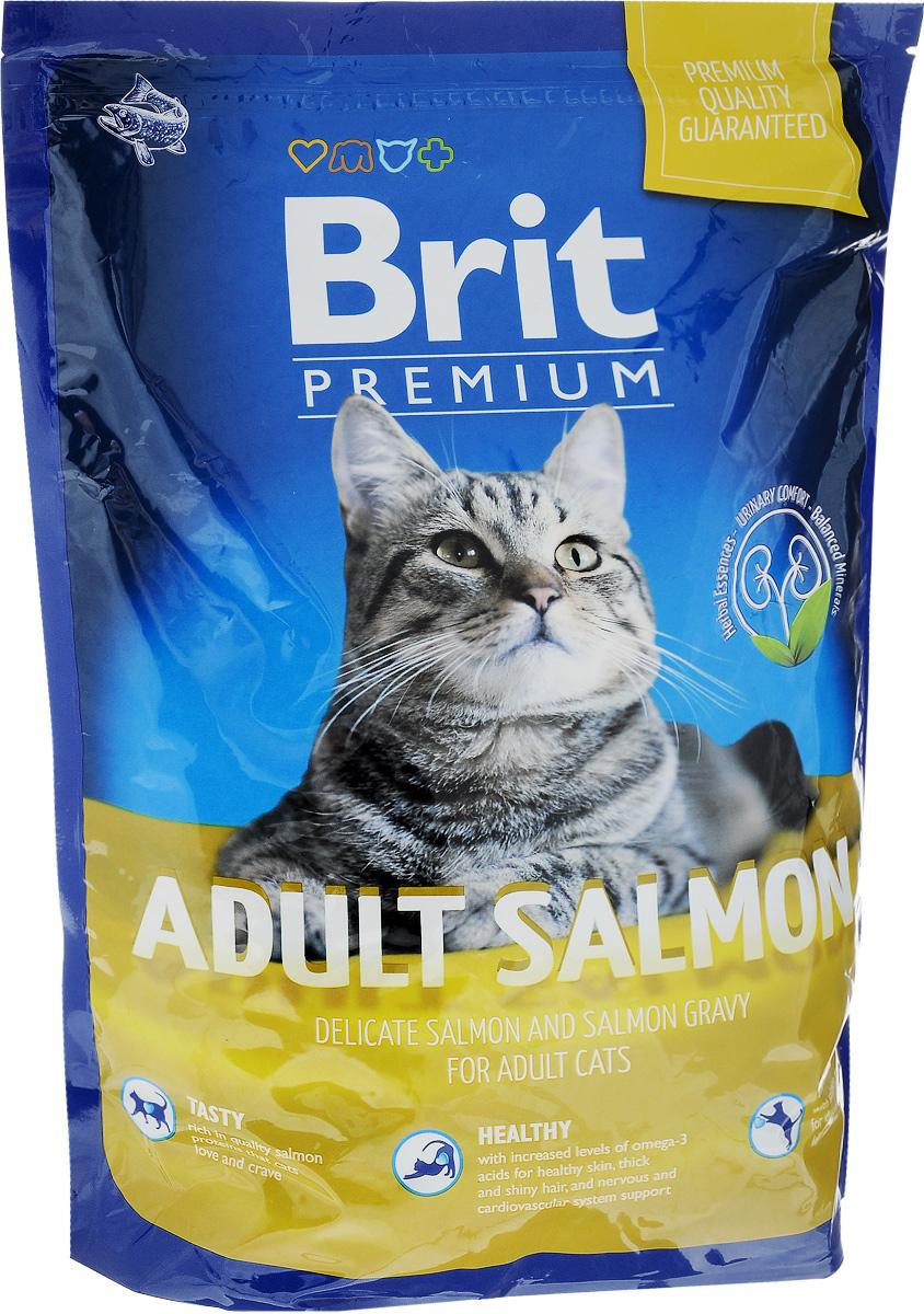 Корм сухой Brit Premium для взрослых кошек, с лососем, 1,5 кг110312Полноценный сбалансированный корм Brit Premium подходит для взрослых кошек всех пород. Корм изготовлен на основе лосося. Не содержит пшеницу. Легко переваривается и усваивается.Товар сертифицирован.