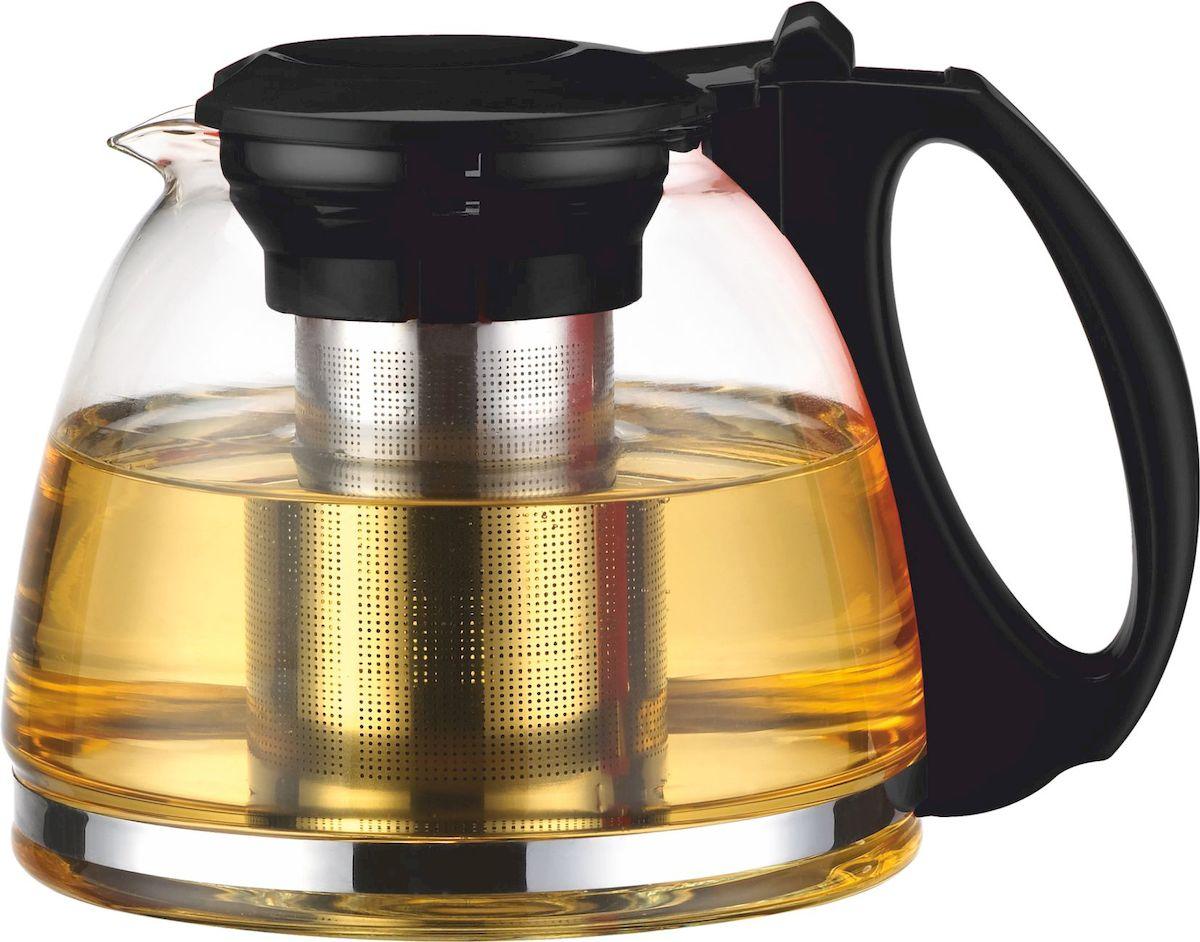 """Чайник заварочный """"Calve"""" имеет элегантный и практичный дизайн. Идеально подходит для заваривания чая и трав. Высококачественное жаростойкое стекло. Разборная конструкция для удобства ухода. Пластиковые части корпуса из пищевого пластика. Фильтр из нержавеющей стали удерживает чаинки от попадания в чашки. Жаропрочность стекла до 100°.  Советы по уходу и использованию: Чайник не предназначен для нагрева на плите или на открытом огне Не рекомендуется мыть чайник в посудомоечной машине Если на стекле появились трещины, прекратите использование чайника Не ставьте горячий чайник на холодную поверхность, используйте подставку под горячее  Объем 1300 мл."""
