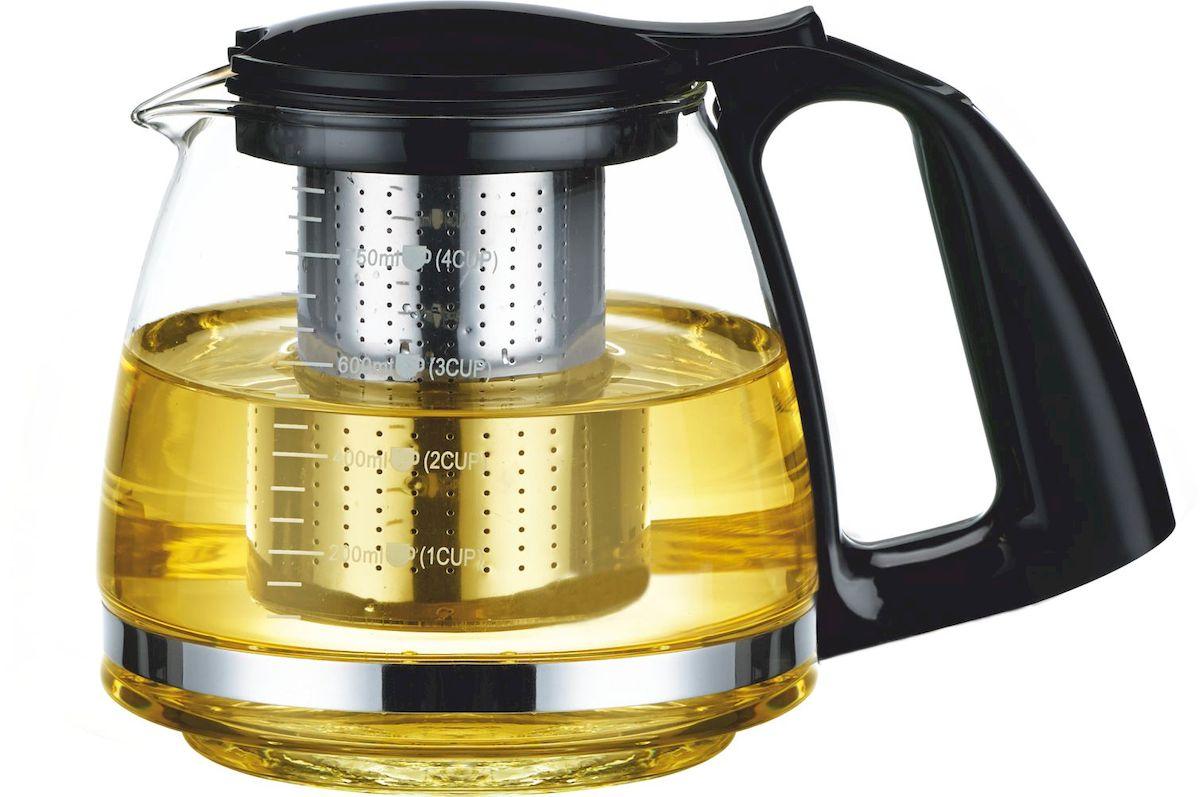 Чайник заварочный Calve, 750 мл. CL-70059580BH_зернаЗаварочный чайник Calve имеет элегантный и практичный дизайн. Идеально подходит для заваривания чая и трав. Высококачественное жаростойкое стекло. Разборная конструкция для удобства ухода. Пластиковые части корпуса из пищевого пластика. Фильтр из нержавеющей стали удерживает чаинки от попадания в чашки. Жаропрочность стекла до 100°.Советы по уходу и использованию: Чайник не предназначен для нагрева на плите или на открытом огне. Не рекомендуется мыть чайник в посудомоечной машине Если на стекле появились трещины, прекратите использование чайника. Не ставьте горячий чайник на холодную поверхность, используйте подставку под горячее.Объем 750 мл.