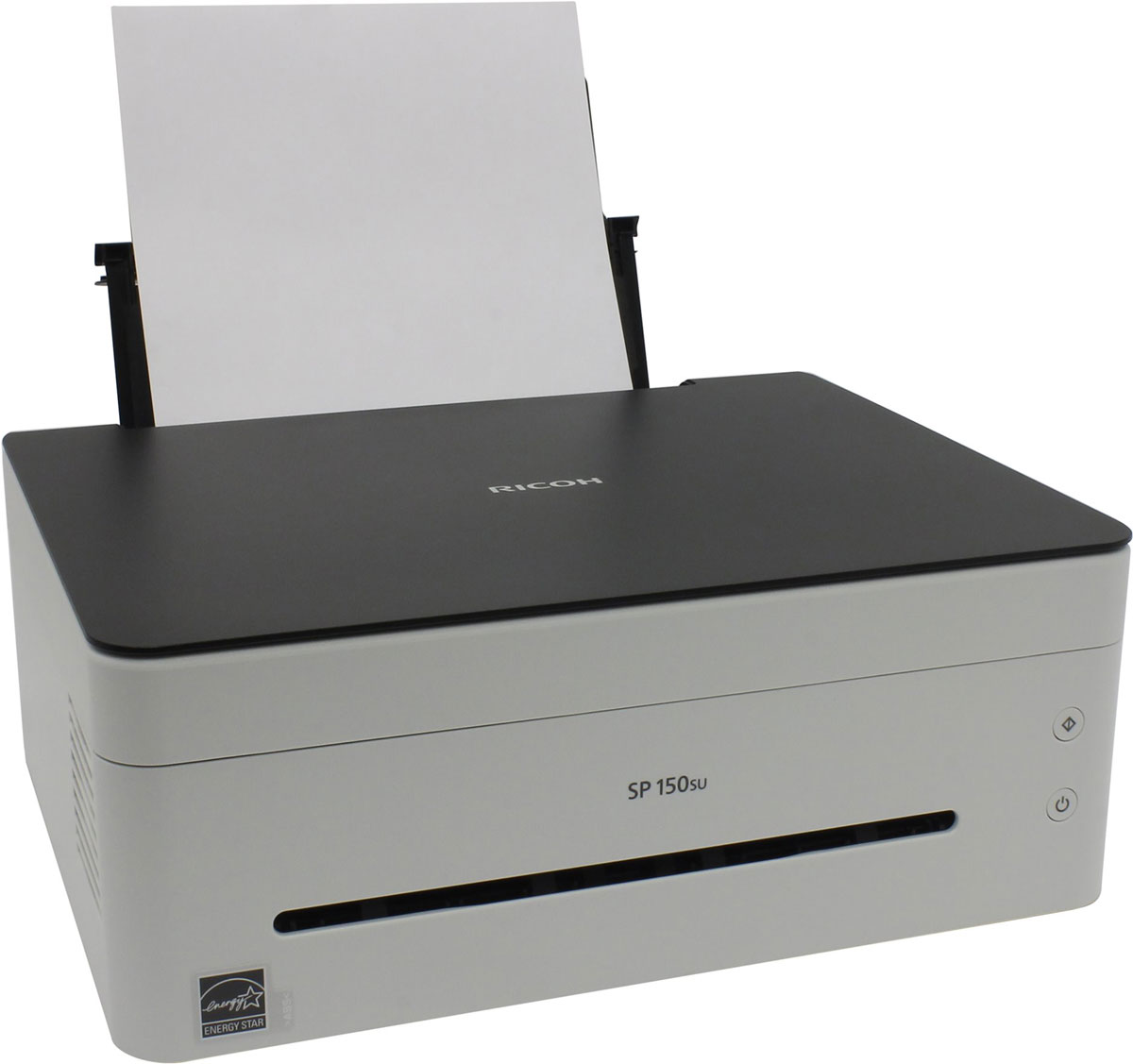Ricoh SP 150SU МФУ408003МФУ Ricoh SP 150SU сочетает в себе элегантный дизайн, интуитивно понятное управление и скорость печати 22 страницы в минуту. Простота установки драйвера с автозапуском виртуальной панели управления позволяет начать работу практически сразу. Функции принтера, копира и цветного сканера обеспечат всю работу с документами как в небольшом офисе, так и дома. Простота, удобство, функциональность, скорость, качество и надежность — все это в компактном корпусе на вашем столе. Функции печати, копирования и сканирования в одном элегантном корпусе, который занимает минимум места на рабочем столе. Виртуальная панель управления с ПК обеспечивает удобную интуитивно понятную работу. Картридж все в одном можно заменить буквально одним движением. Все быстро, просто и надежно.Уважаемые клиенты!Обращаем ваше внимание на то, что картридж в комплекте не идет.Струйный или лазерный принтер: какой лучше? Статья OZON Гид