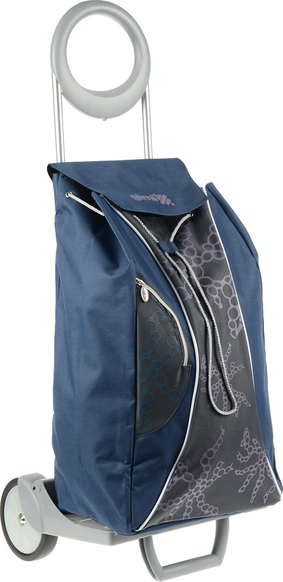 """Gimi """"Market"""" - эта удобная сумка-тележка пригодится каждой  хозяйке. Ее мобильность и простота позволит вам без труда ей  пользоваться. Ткань сумки водонепроницаема. Корпус сумки- тележки состоит из стали. Пластмасса, используемая в  производстве тележки, повышенной прочности. Имеет  дополнительный наружный карман на молнии. Удобная и  стильная сумка-тележка предназначена для перевоза любого  груза.  Теперь вам не придётся нести тяжёлые сумки в руках.  Эта сумка-тележка поможет вам без особого труда и в любую  погоду довезти ваши продукты в целости и сохранности.  Удобная подставка для вертикального положения сумки- тележки позволят вам оставлять её без дополнительного  внимания. Максимальная нагрузка: 30 кг."""