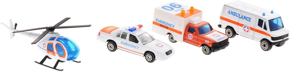 Welly Игровой набор Служба спасения Скорая помощь 4 предмета welly welly набор служба спасения скорая помощь 4 штуки