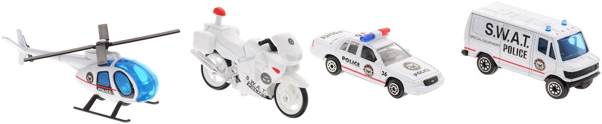 Welly Игровой набор Служба спасения: Полиция, 4 предмета welly welly набор служба спасения скорая помощь 4 штуки