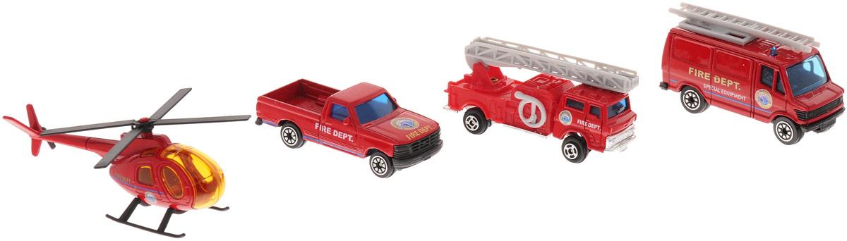 Welly Игровой набор Служба спасения: Пожарная команда, 4 предмета welly welly набор служба спасения пожарная команда 4 штуки
