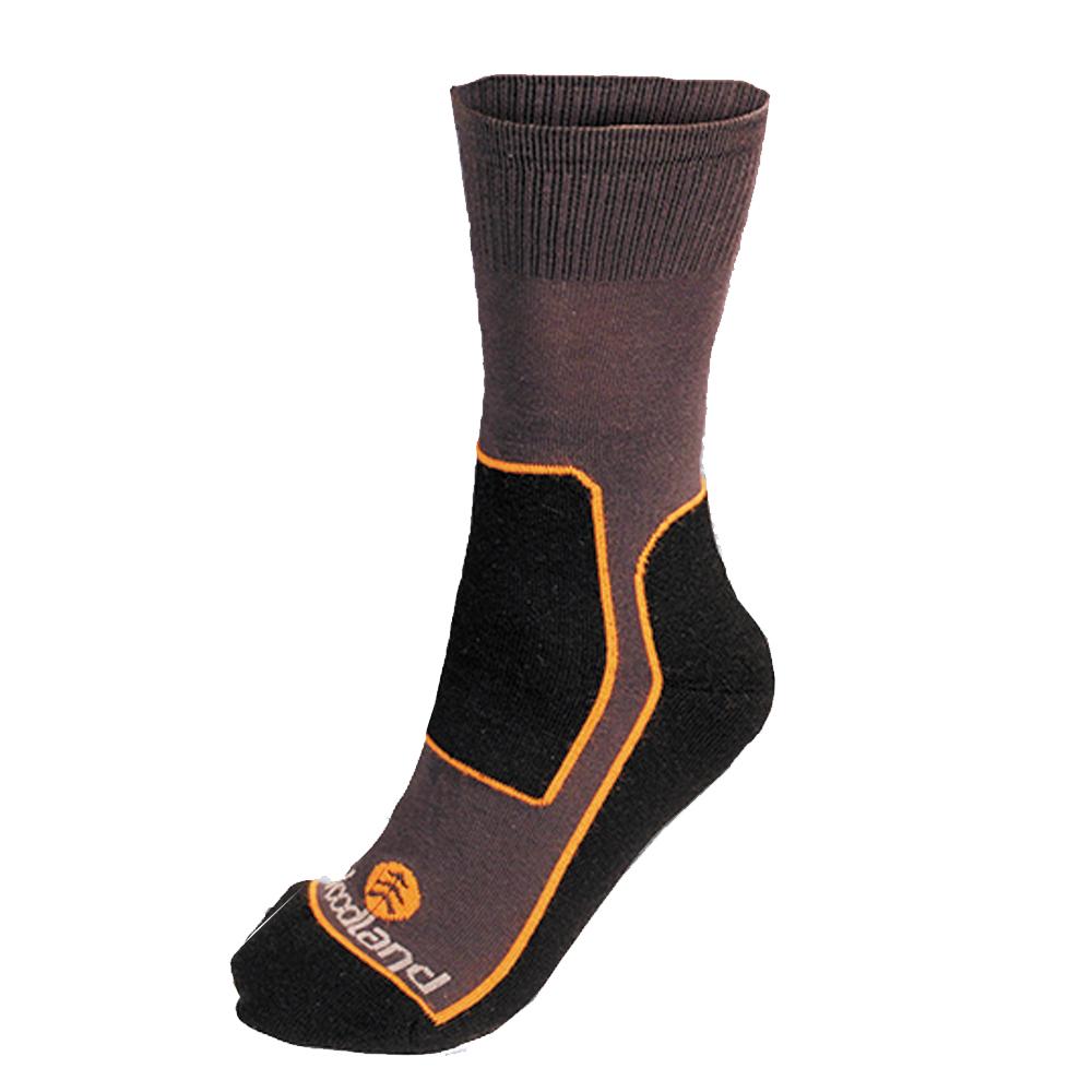 Термоноски Woodland CoolTex, цвет: серый, оранжевый, черный. 0054757. Размер 41/43CoolTexТермоноски CoolTex для активного использования. Уплотненный след носка из акрила создает повышенную защиту ног от охлаждения снизу, облегченный верх СoolTex позволяет максимально эффективно испаряться избыточной влаге оставляя ноги сухими. Данная модель применима вместе со сверхтеплой зимней обувью, а так же с трекинговыми ботинками и спортивной обувью. Рекомендовано для прогулок, занятий спортом, активной рыбной ловли и охоты.