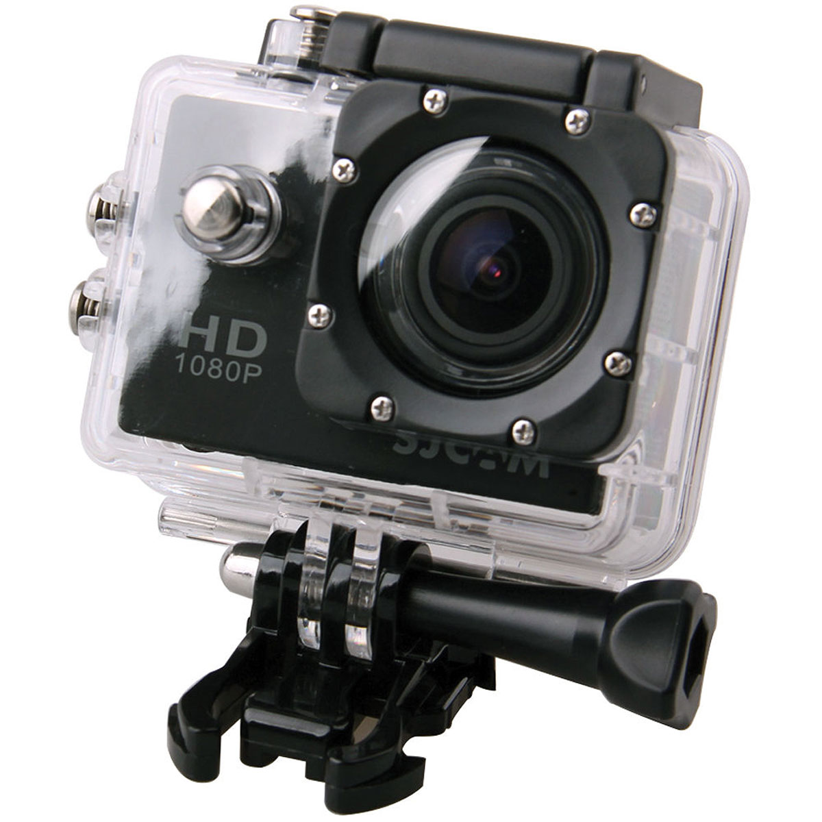 SJCAM SJ4000, Black экшн-камераSJ4000BlackSJCAM SJ4000 - это недорогой и качественный аналог GoPro. С ее помощью можно снимать экстремальные события, закрепив камеру в удобном месте. Вы также можете делать впечатляющие съёмки под водой на глубине до 30 метров благодаря водонепроницаемому боксу в комплекте.Благодаря режиму цейтаоферной съёмки камера SJCAM может сжимать многочасовые события (например, расцветающую розу) до нескольких секунд. Теперь восход солнца после съёмки произойдёт прямо на глазах ваших друзей! SJCAM SJ4000 может быть использована в качестве видеорегистратора благодаря возможности циклической записи. Для этого разместите её на стекле автомобиля с помощью специального крепления и нажмите на кнопку записи.Данную модель можно использовать и в качестве Full HD веб-камеры. Всё, что необходимо сделать - это подключить SJCAM к компьютеру через кабель USB и запустить Skype.Камера SJ4000 подойдёт практически для любых видов спорта. В комплекте вы найдёте крепления на велосипед, на шлем, липучки и ремни, позволяющие закрепить камеру на любые поверхности.Процессор: Novatek NT96650Дисплей: LCD, 1,5 (4:3)Емкость аккумулятора: 900 мАчВремя автономной работы: до 80 минут