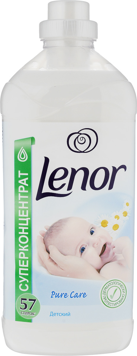 Кондиционер для белья Lenor для чувствительной и детской кожи, концентрированный, 2 лLR-81529135Кондиционер Lenor для детской и чувствительной кожи придает мягкость вещам, облегчает глажение, помогает сохранить форму одежды, защищает ткань от преждевременного изнашивания и сохраняет яркость цветов. Добавьте кондиционер во время последнего полоскания белья.Безопасность для кожи подтверждена дерматологами.Состав: 5-15% катионные ПАВ, Товар сертифицирован.