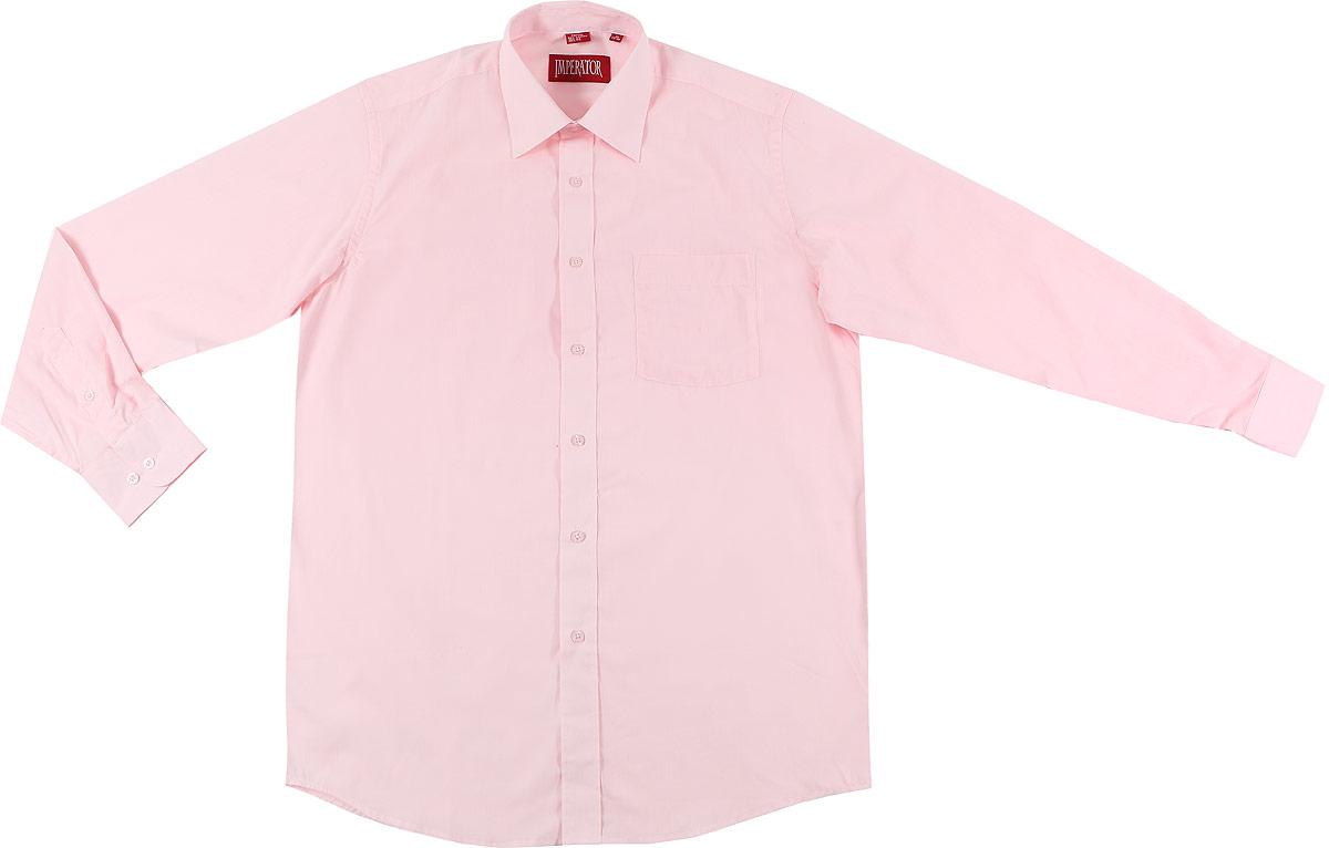 Рубашка мужская Imperator, цвет: светло-розовый. Barbie. Размер 40-178/186 (48-178/186)BarbieМужская рубашка Imperator выполнена из хлопка с добавлением полиэстера. Рубашка прямого кроя с длинными рукавами и отложным воротником застегивается на пуговицы. Модель дополнена нагрудным кармашком. Манжеты рукавов оснащены застежками-пуговицами.