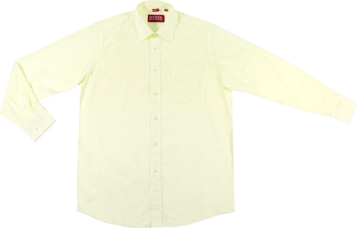 Рубашка мужская Imperator, цвет: светло-желтый. Oasis. Размер 45-170/178 (58-170/178) мужская одежда aston случайные случайные сшитые мужские рубашки с длинными рукавами синяя сетка 170 m a14116303