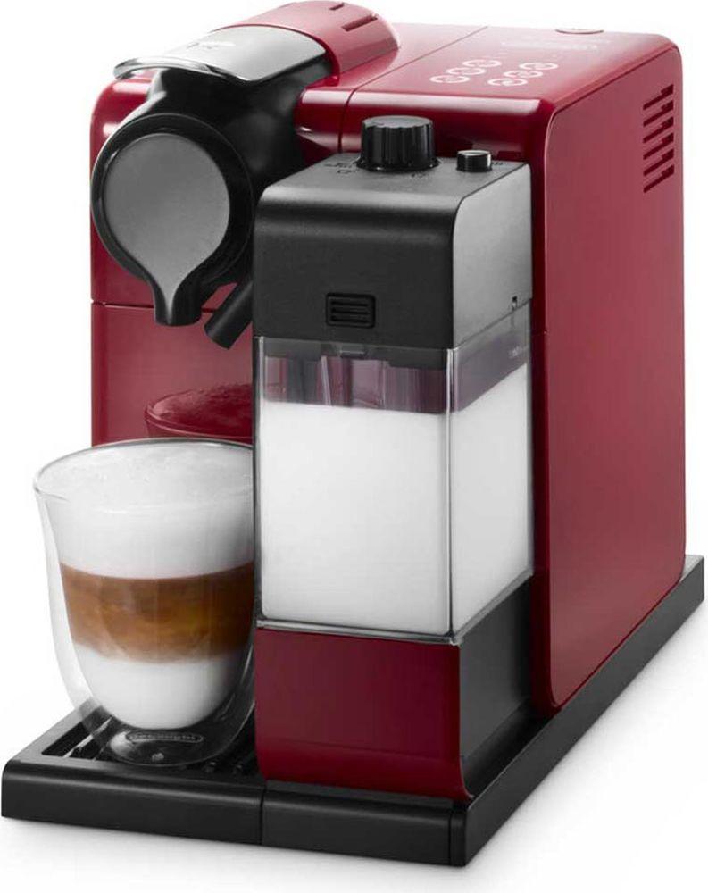 DeLonghi EN550.R Nespresso Lattissima Touch, Red кофеварка0132193186Кофемашина DeLonghi Lattissima Touch EN 550 позволит вам приготовить любимые кофейно-молочные напитки у себя дома всего одним касанием. Создавайте оригинальные рецепты с новой функцией приготовления молочной пенки. Предусмотрены программы приготовления капучино, латте-макиато, ристретто, эспрессо, кофе лунго и горячего молока. Можно настроить и сохранить в памяти машины количество кофе и молока на одну порцию для каждого из шести видов напитков. Функция автоматического отключения экономит электроэнергию.
