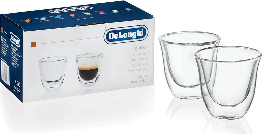 DeLonghi Espresso cups чашки, 2 шт кофемашина delonghi ecam 45 760 w белый