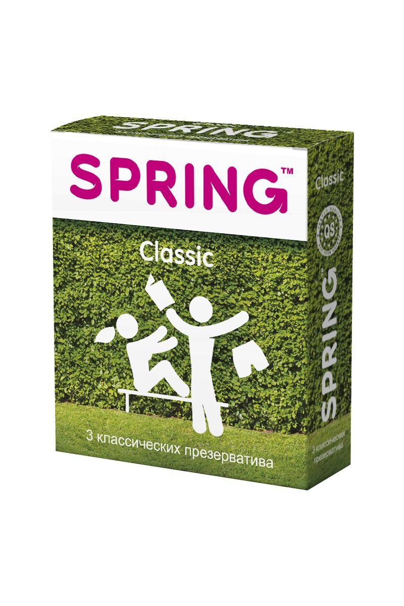 Презервативы SPRING™ Classic, классические, 3 шт. vizit гель смазка erotic возбуждающий 100 мл