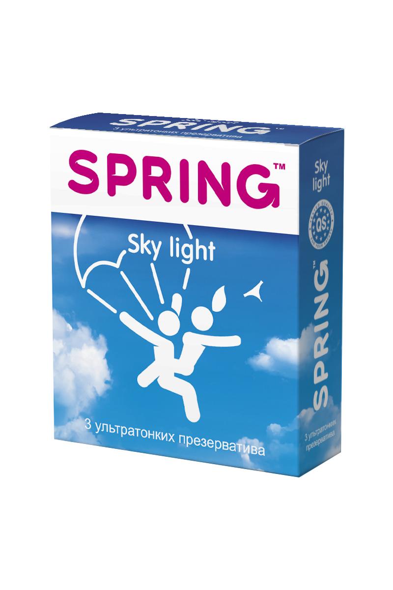 Презервативы SPRING™ Sky Light, ультратонкие, 3 шт. презервативы ganzo extase 3 c точечной и ребристой поверхностью