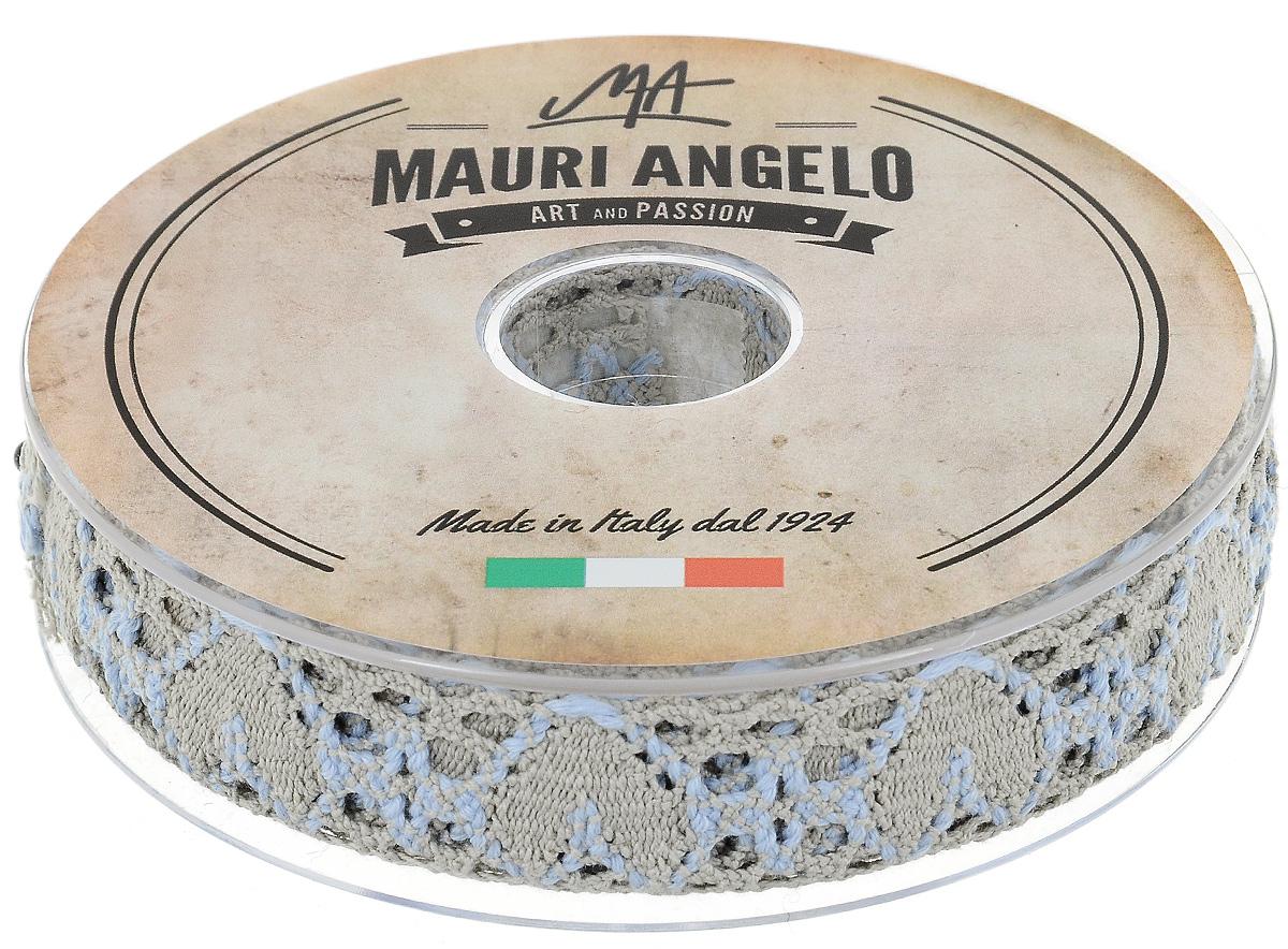 Лента кружевная Mauri Angelo, цвет: бежевый, голубой, 2,7 см х 10 мMR3493/PG/8Декоративная кружевная лента Mauri Angelo выполнена из высококачественного хлопка. Кружево применяется для отделки одежды, постельного белья, а также в оформлении интерьера, декоративных панно, скатертей, тюлей, покрывал. Главные особенности кружева - воздушность, тонкость, эластичность, узорность.Такая лента станет незаменимым элементом в создании рукотворного шедевра.