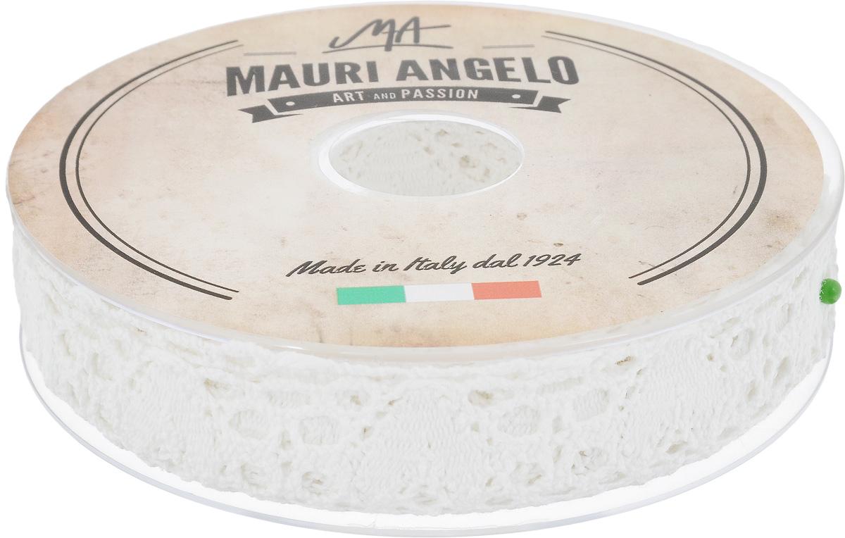 Лента кружевная Mauri Angelo, цвет: белый, 2,7 см х 10 м
