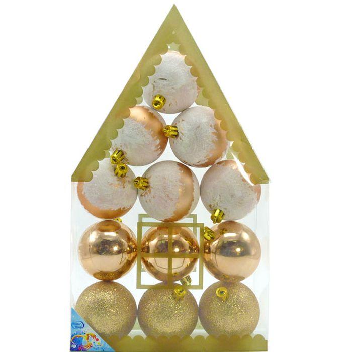 Набор новогодних подвесных украшений Winter Wings Шары, цвет: золотистый, диаметр 6 см, 12 штN181817Набор новогодних подвесных украшений Winter Wings отлично подойдет для декорации вашего дома и новогодней ели. Новогоднее украшение можно повесить в любом понравившемся вам месте. Но, конечно, удачнее всего оно будет смотреться на праздничной елке.Елочная игрушка - символ Нового года. Она несет в себе волшебство и красоту праздника. Такое украшение создаст в вашем доме атмосферу праздника, веселья и радости.