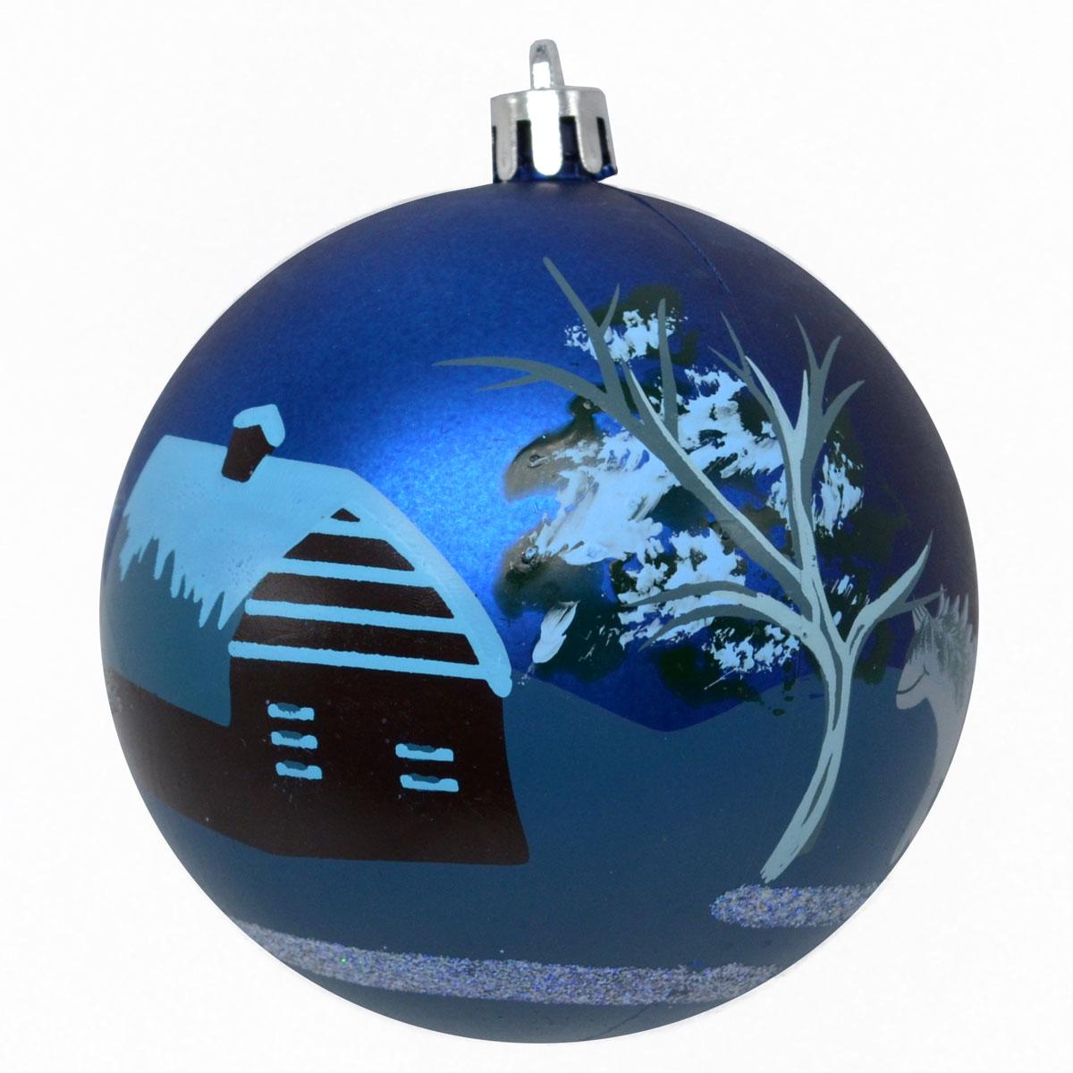 Новогоднее подвесное украшение Winter Wings Шар. Роспись, цвет: синий, диаметр 8 смN181868Новогоднее подвесное украшение Winter Wings отлично подойдет для декорации вашего дома и новогодней ели. Новогоднее украшение можно повесить в любом понравившемся вам месте. Но, конечно, удачнее всего оно будет смотреться на праздничной елке.Елочная игрушка - символ Нового года. Она несет в себе волшебство и красоту праздника. Такое украшение создаст в вашем доме атмосферу праздника, веселья и радости.