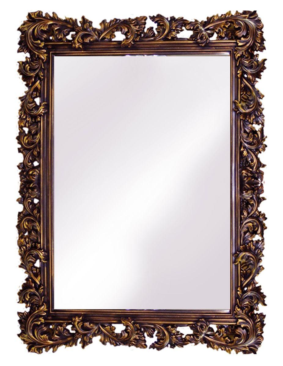 Зеркало VezzoLLi Алиана, цвет: коричневый, 115 х 88 см15-05С обратной стороны зеркало снабжено тремя металлическими подвесами для возможности разместить его и вертикально и горизонтально.