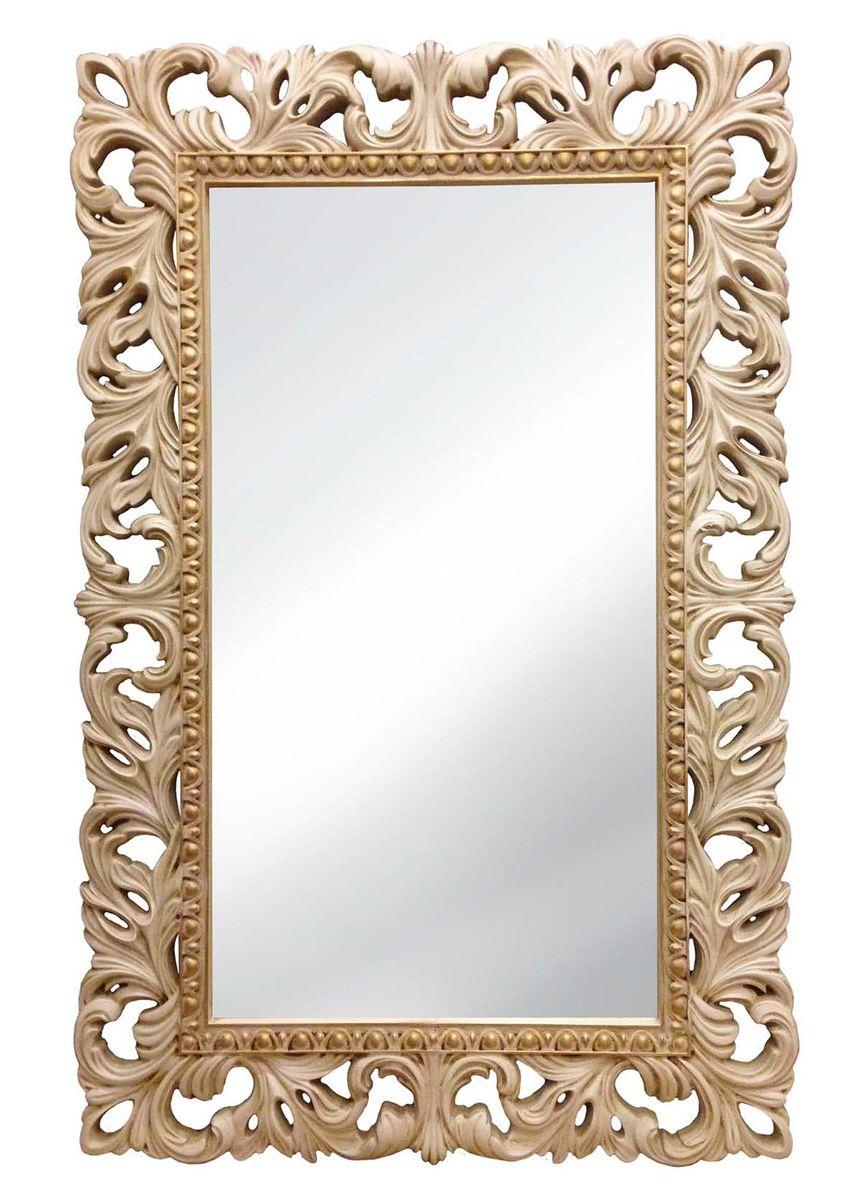 Зеркало VezzoLLi Италиа, цвет: слоновая кость, 115 х 75 см16-29С обратной стороны зеркало снабжено тремя металлическими подвесами для возможности разместить его и вертикально и горизонтально.
