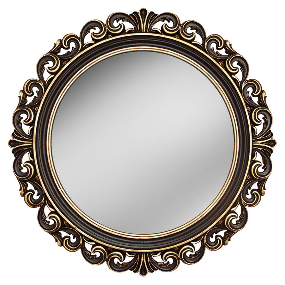 Зеркало VezzoLLi Рикиоли, цвет: коричневый, диаметр 90 см17-05