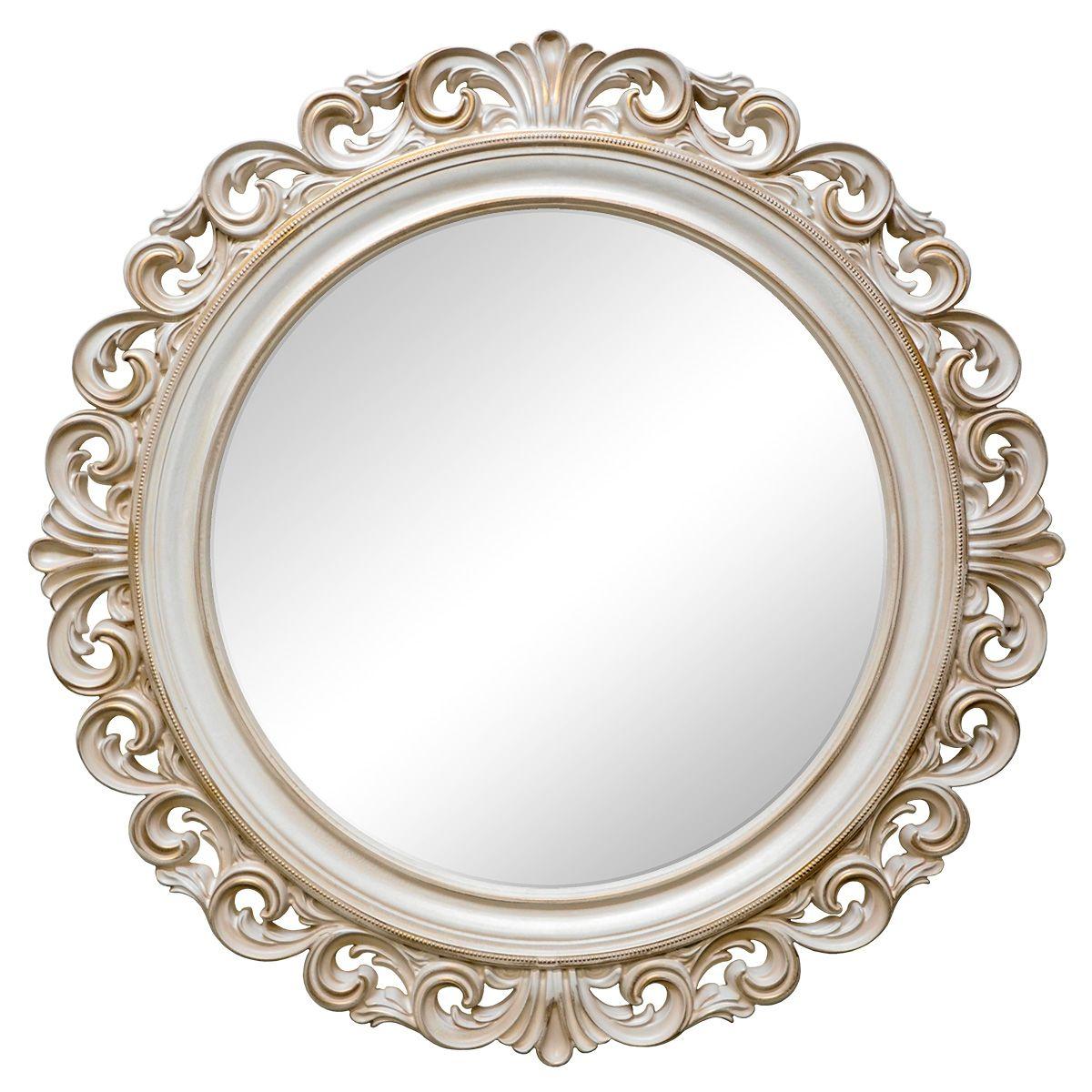 Зеркало VezzoLLi Рикиоли, цвет: слоновая кость, диаметр 90 см17-29