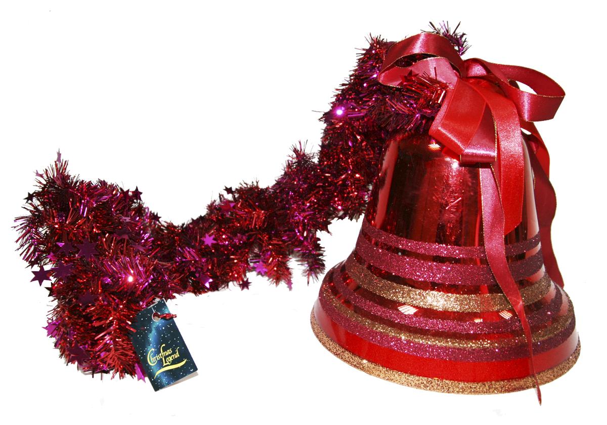 Украшение новогоднее подвесное Weiste Колокол, на мишуре, цвет: красный, длина 100 см5865Украшение новогоднее подвесное Weiste  отлично подойдет для декорации вашего дома иновогодней ели. Украшение можно повесить в любом понравившемся вам месте. Елочная игрушка - символ Нового года. Она несет в себе волшебство и красоту праздника.Создайте в своем доме атмосферу веселья и радости, украшая новогоднюю елку наряднымиигрушками, которые будут из года в год накапливать теплоту воспоминаний.