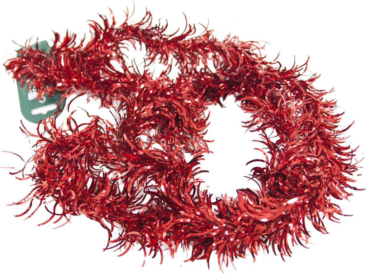 Гирлянда новогодняя Weiste Аврора, цвет: красный, длина 2 м6223Гирлянда АВРОРА 8смх2м, цвет красный Weiste