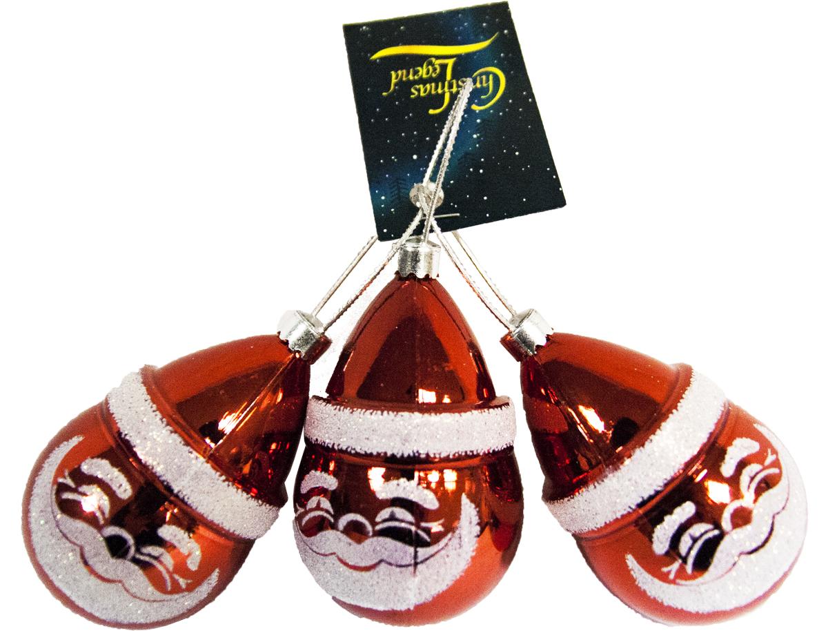 Набор украшений новогодних подвесных Weiste Дед Мороз, цвет: красный, 3 шт72930Набор новогодних подвесных украшений Weiste  отлично подойдет для декорации вашего дома и новогодней ели. С помощью специальной петельки украшение можно повесить в любом понравившемся вам месте. Но, конечно, удачнее всего оно будет смотреться на праздничной елке. Елочная игрушка - символ Нового года. Она несет в себе волшебство и красоту праздника. Создайте в своем доме атмосферу веселья и радости, украшая новогоднюю елку нарядными игрушками, которые будут из года в год накапливать теплоту воспоминаний.