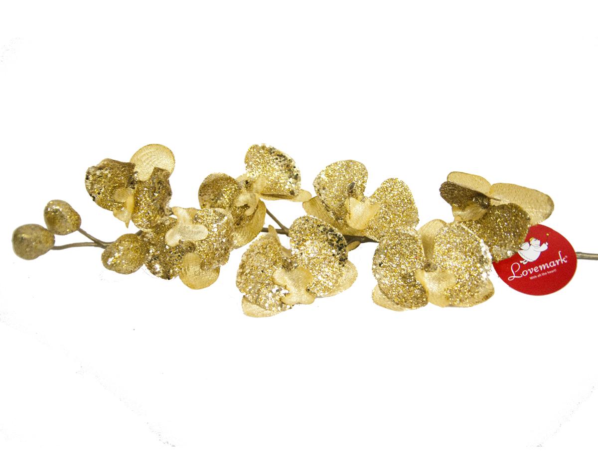Украшение декоративное Lovemark Орхидея, цвет: золотистый, высота 79 смFAS.16111,05Орхидея 79см золото/блёстки Lovemark