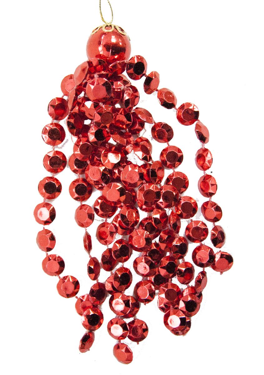 Подвес декоративный Lovemark Кисть, цвет: красный, 12,5 смSC1163RПодвес КИСТЬ из плоских бусин 12,5см, цвет красный Lovemark