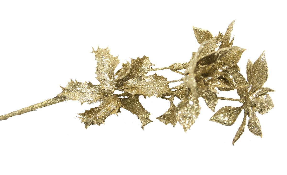Букет декоративный Lovemark Пуансеттия, цвет: золотистый, 33 смXCB.16400,05Букет ПУАНСЕТТИЯ 33см золото, блёстки Lovemark