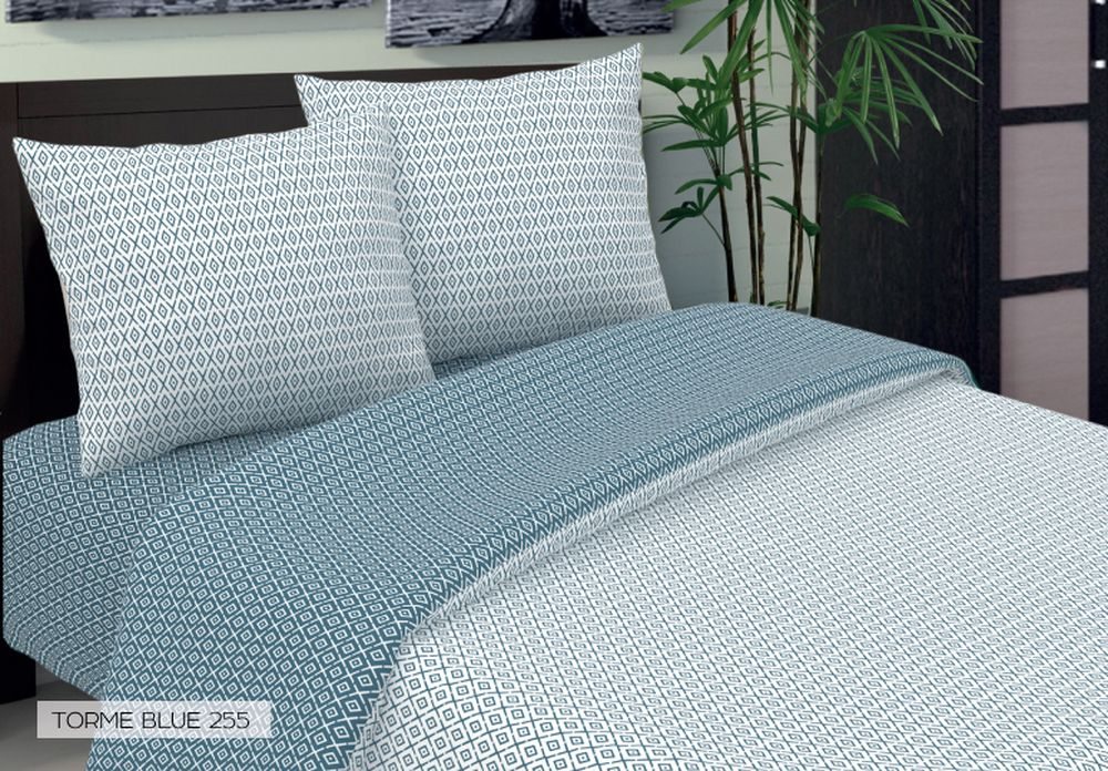 Комплект белья Seta Torme, евро, наволочки 70x70, цвет: голубой015032255Бязевое бельё выдерживает бесконечное число стирок, к тому же стоит сравнительно недорого.Лучшее соотношение цены, качества ткани и современных дизайнов.Всегда хит сезона и лидер продаж. Изготовлено из 100 % хлопка.
