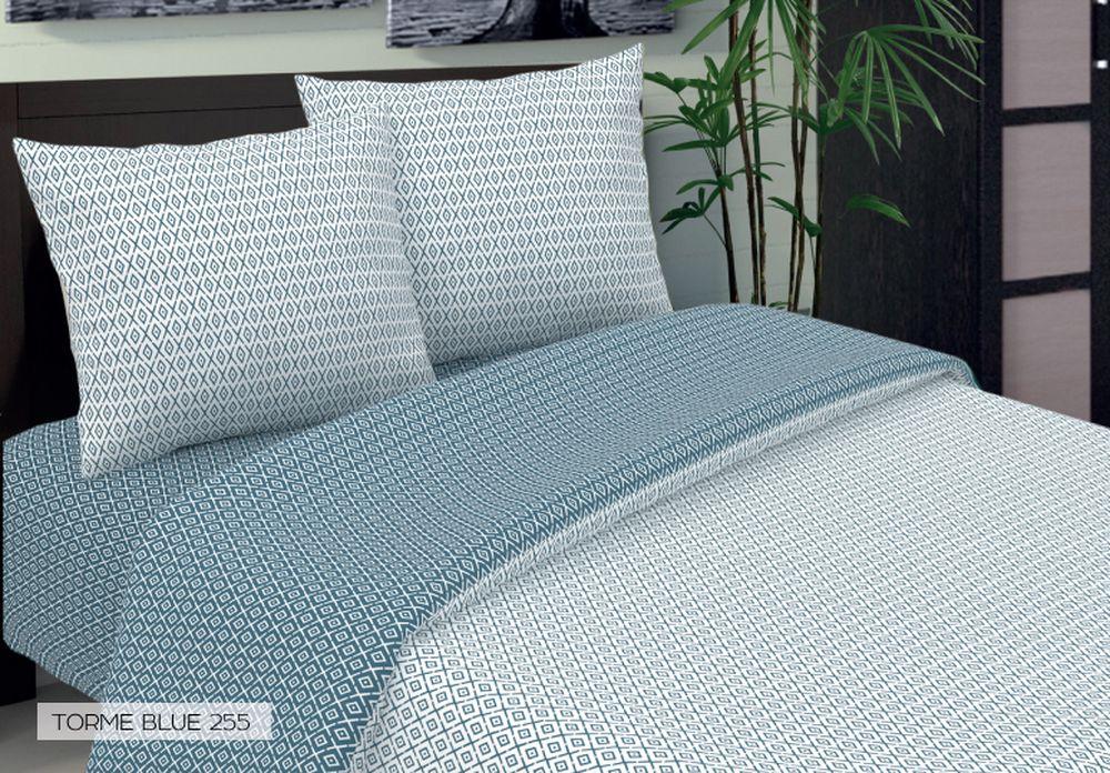 Комплект белья Seta Torme, евро, наволочки 50x70, цвет: голубой015033255Бязевое бельё выдерживает бесконечное число стирок, к тому же стоит сравнительно недорого.Лучшее соотношение цены, качества ткани и современных дизайнов.Всегда хит сезона и лидер продаж. Изготовлено из 100 % хлопка.