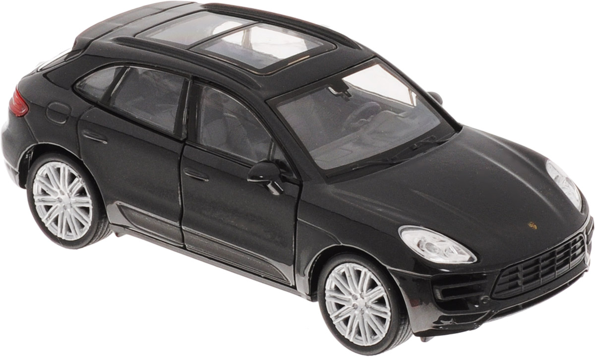 Welly Модель автомобиля Porsche Macan Turbo цвет черный welly модель автомобиля audi r8 v10 цвет красный