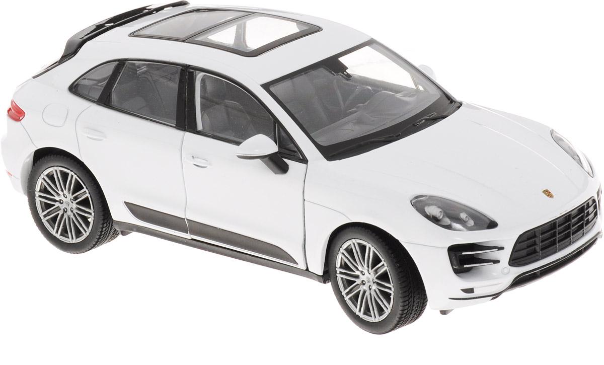 Welly Модель автомобиля Porsche Macan Turbo цвет белый масштаб 1:24 welly модель автомобиля audi r8 v10 цвет красный
