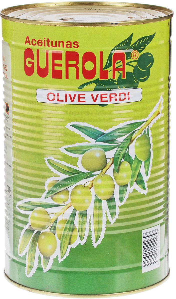 Guerola оливки зеленые сорта Manzanilla с косточкой со вкусом анчоуса, 4,45 кг guerola оливки зеленые сорта манзанийя с косточкой 770 г