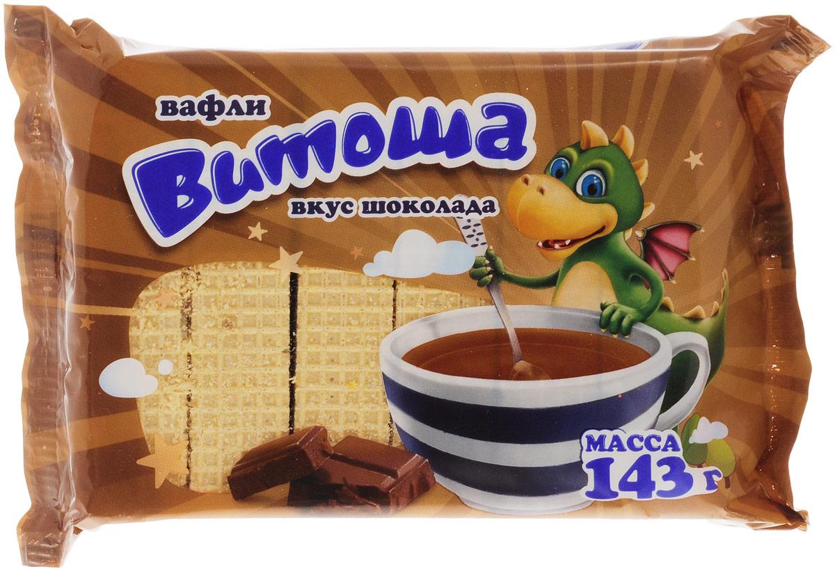 Витьба Вафли Витоша со вкусом шоколада, 143 г тореро вафли со сливочным ароматом 180 г