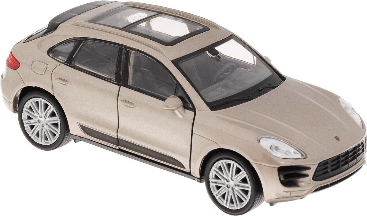 Welly Модель автомобиля Porsche Macan Turbo цвет серебристый металлик uni fortunetoys модель автомобиля porsche cayenne turbo