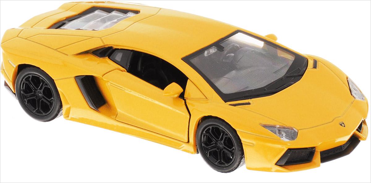 Welly Модель автомобиля Lamborghini Aventador LP700-4 цвет желтый модель машины fx lp700 4 aventador