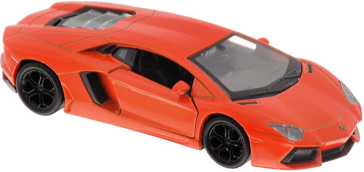 Welly Модель автомобиля Lamborghini Aventador LP700-4 цвет оранжевый модель машины fx lp700 4 aventador