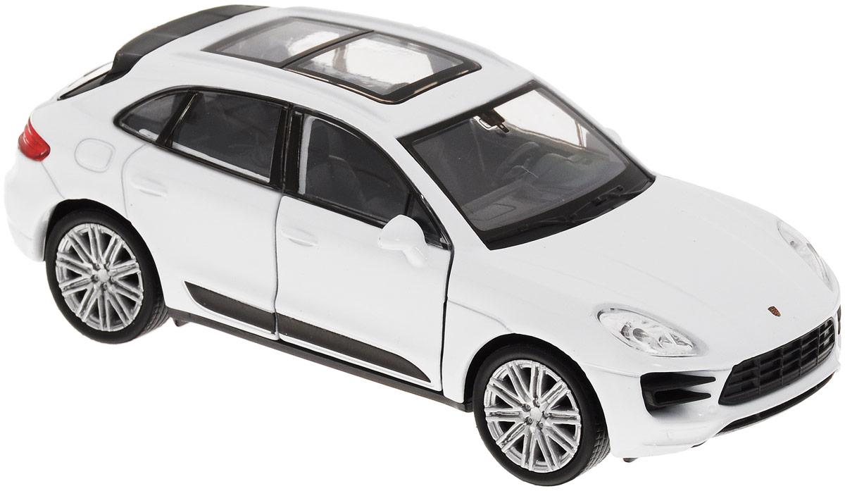 Welly Модель автомобиля Porsche Macan Turbo цвет белый масштаб 1:34 uni fortunetoys модель автомобиля porsche cayenne turbo