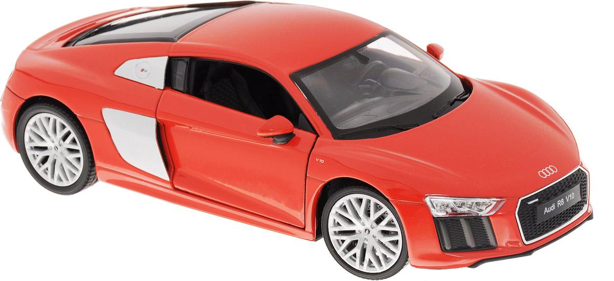 Welly Модель автомобиля Audi R8 V10 цвет красный welly модель автомобиля audi r8 v10