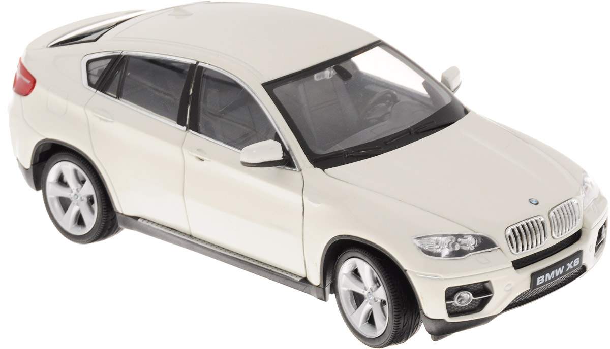 Welly Модель автомобиля BMW X6 цвет белый машина детская welly модель машины 1 24 bmw x6