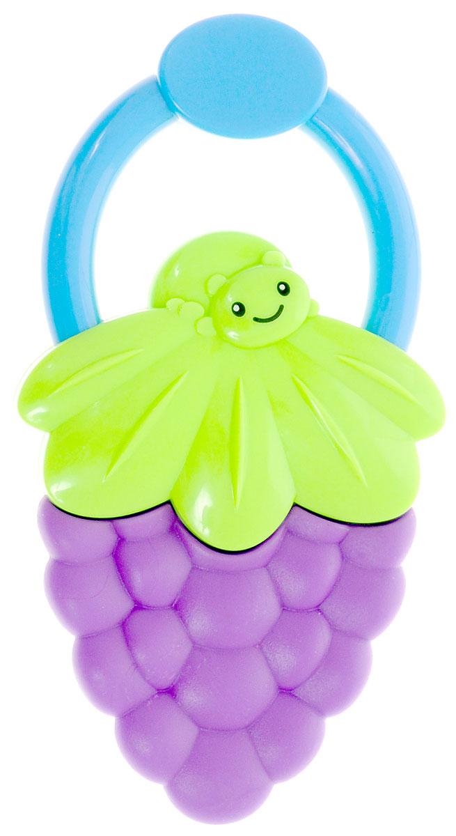 Bondibon Погремушка Ягодка цвет фиолетовый зеленый
