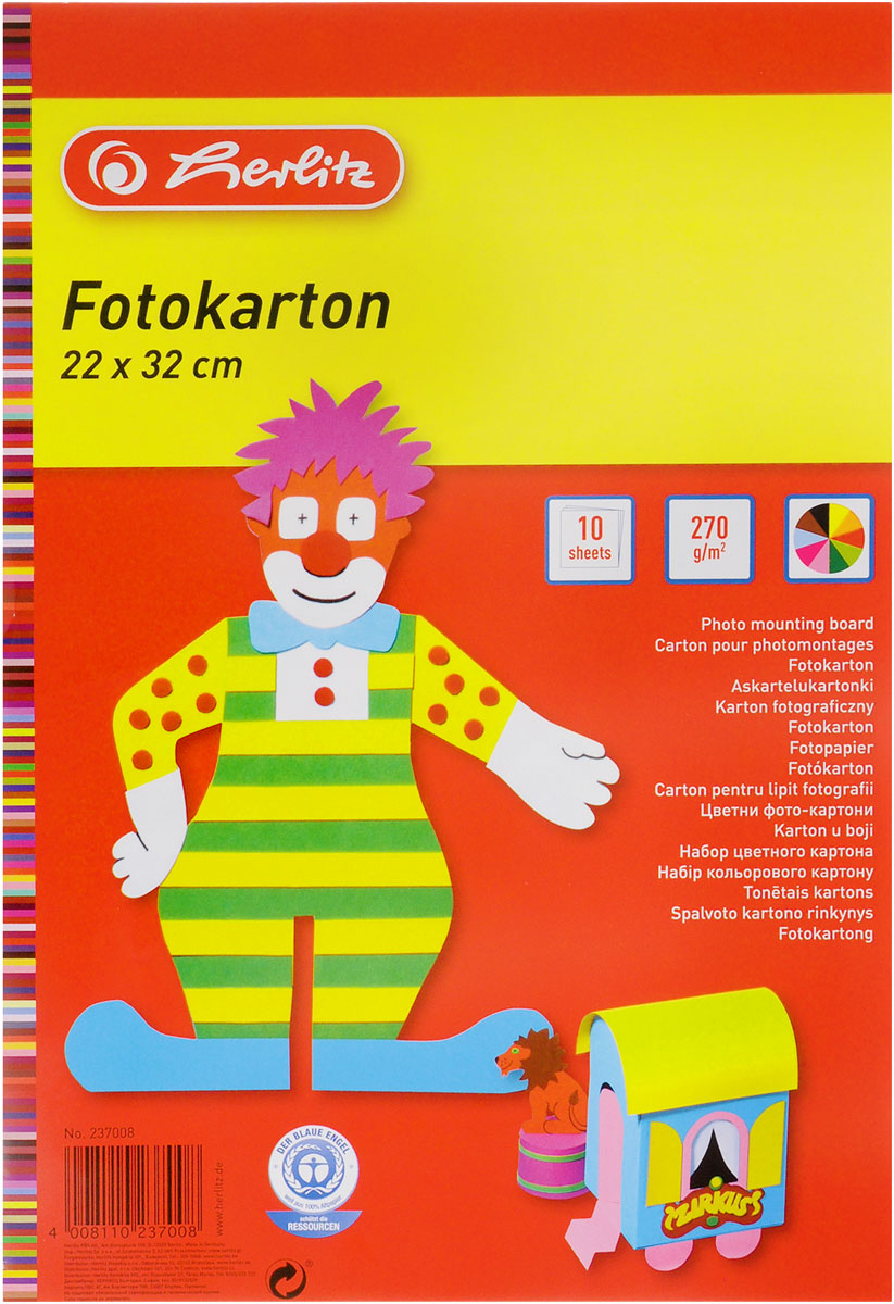 Herlitz Набор цветного картона 10 листов