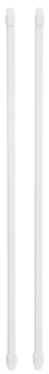 """Витражная штанга """"Эскар"""" - это не только аксессуар для штор, но и элемент декора. Изделие выполнено из металла. Держатели штанг вкручиваются в раму в предварительно рассверленное отверстие. В комплект входят: 2 штанги, 4 крючка для крепления.   Оригинальная и стильная штанга дополнит интерьер любой комнаты.  Длина карниза: 40-70 см."""