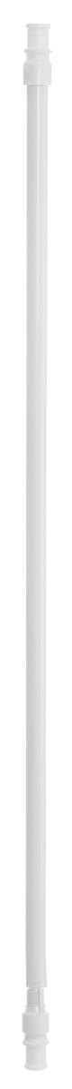Карниз однорядный Эскар Калифорния, телескопический, цвет: белый, диаметр 12 мм, длина 55-85 смшв_12584Круглый карниз Эскар Калифорния выполнен из металла. Подходит для использования одного вида занавесей. Поверхность гладкая. Крепление производится на раму, при помощи держателей на двухсторонний скотч или саморезы.В комплект входят: карниз, 2 коротких кронштейна, 2 длинных кронштейна, 8 саморезов, 4 полоски двухстороннего скотча. Такой карниз будет органично смотреться в любом интерьере. Диаметр карниза: 12 мм.