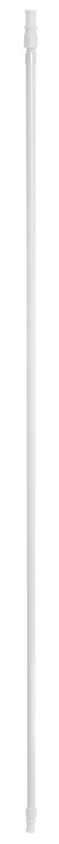 Карниз однорядный Эскар Калифорния, телескопический, цвет: белый, диаметр 12 мм, длина 85-135 см скотч двухсторонний cofield зеленый 12 мм х 2 м